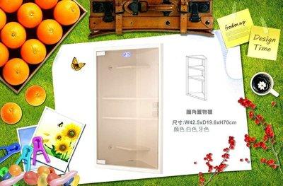 【 達人水電廣場】 置物櫃 S-098 三角形置物箱 牆角置物箱  牆角置物櫃 三角形浴室櫃