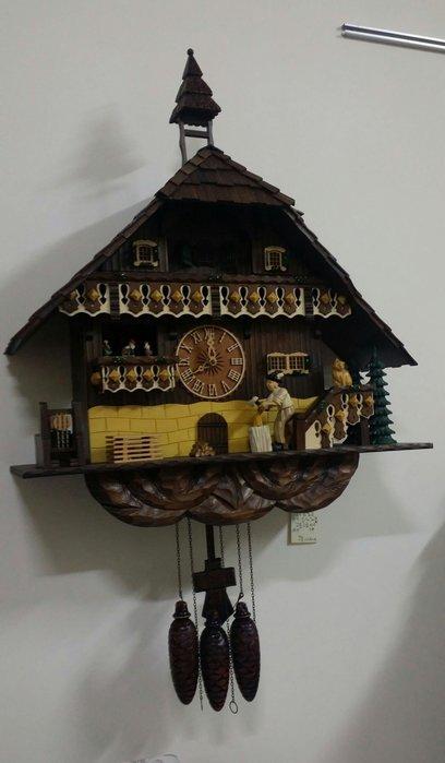 美生活館--全新鄉村風格--   划木工廠   黑森林 木雕光感咕咕鐘/掛鐘/擺鐘