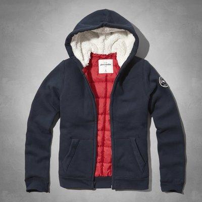 【天普小棧】A&F abercrombie Kids quilted&sherpa-lined hoodie厚款連帽外套