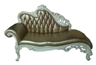 【大熊傢俱】A88  金色 玫瑰系列 新古典 法式沙發 貴妃椅 左貴妃 歐式沙發 布藝貴妃 躺椅