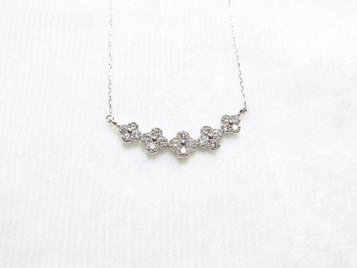 日本18K 花神鑽石項鍊【元圓珠寶】