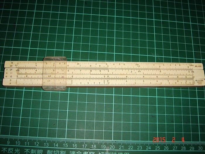 早期收藏~《計算尺 HEMMI SLIDE RULE 》NO.45K型 附贈影印本說明書 【CS超聖文化讚】