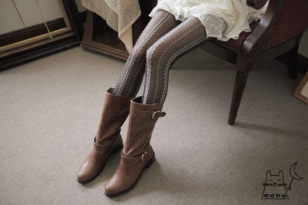 【拓拔月坊】日本品牌 Chaton Moe 立體絨毛小花蕾絲 褲襪 日本製~現貨!