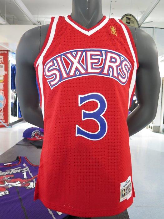 【iSport愛運動】 M&N NBA HWC 燙印復刻球衣 Iverson 新人年費城76人 MN7BSW16DR