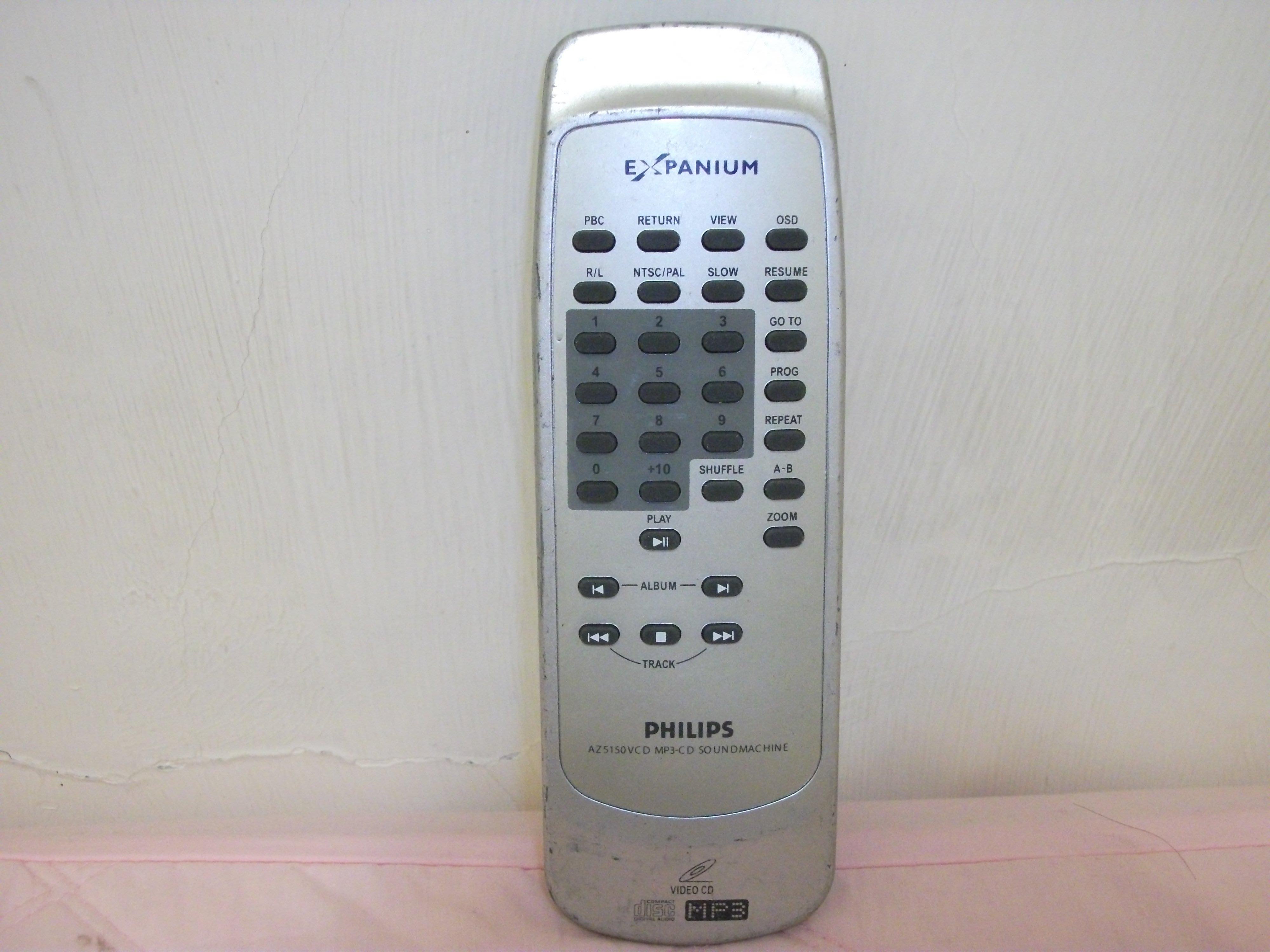 782-90.飛利浦PHILIPS VCD, CD唱盤,MP3遙控器AZ5150,price:NT$300.