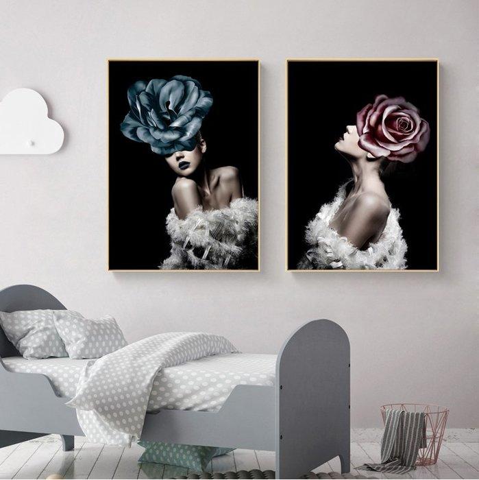 藝術人物抽像人體藝術裝飾畫芯酒店客廳掛畫壁畫(2款可選)