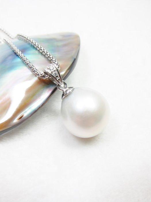 14.3mm白珍珠墜子【元圓珠寶】