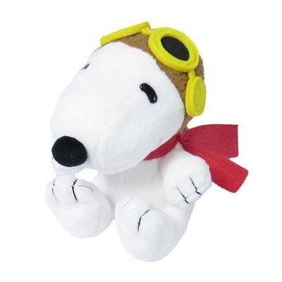 尼德斯Nydus~* 日本正版 Snoopy 史努比 公仔 娃娃 絨毛玩偶 高約12.5cm -飛行款