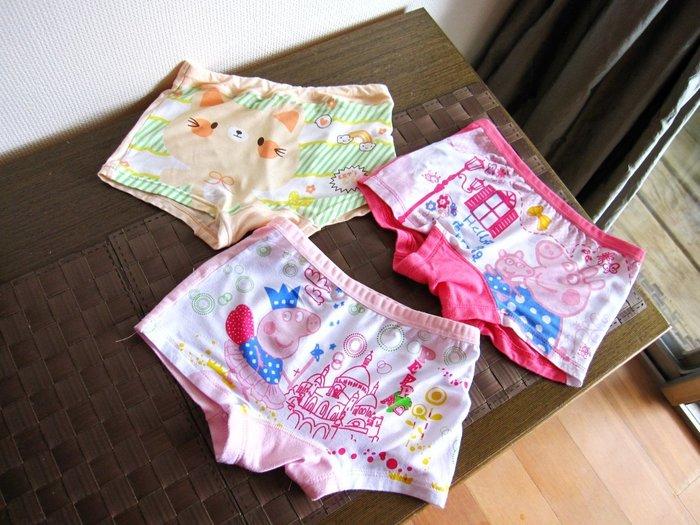 三件粉紅豬小妹豬佩佩內褲 四角褲 4-5y