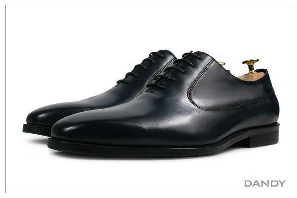 ├ DANDY ┤真皮燻舊紳士皮鞋 ‧ 2018新款手工仿舊藍色HX286-500