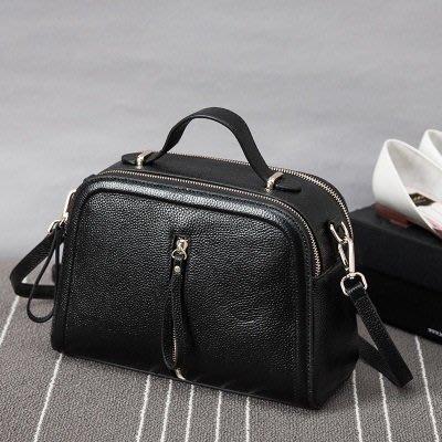 手提 包 真皮 肩背 包-時尚優雅氣質百搭女包包4色73se15[獨家進口][米蘭精品]