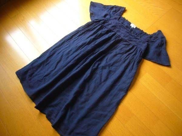 日本品牌 Vert Dense 深藍色 連身裙 洋裝 (大尺碼)