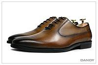 DANDY2018真皮燻舊紳士皮鞋