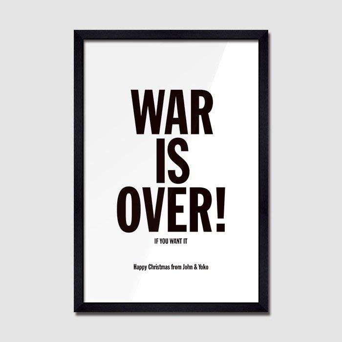 X|設|計 勵志英文字母海報掛畫 簡約工業風餐廳黑白英文裝飾掛畫臥室走廊裝飾掛畫戰爭結束了
