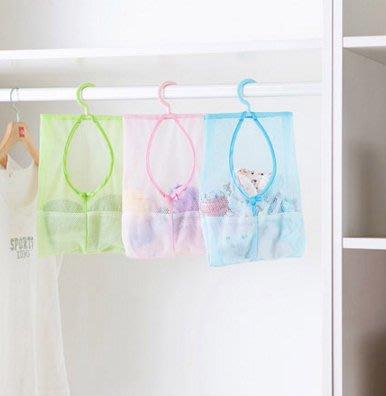 可懸掛便利易分類收納網袋 多用途掛袋 防水透氣掛袋 網袋 掛勾 夾子