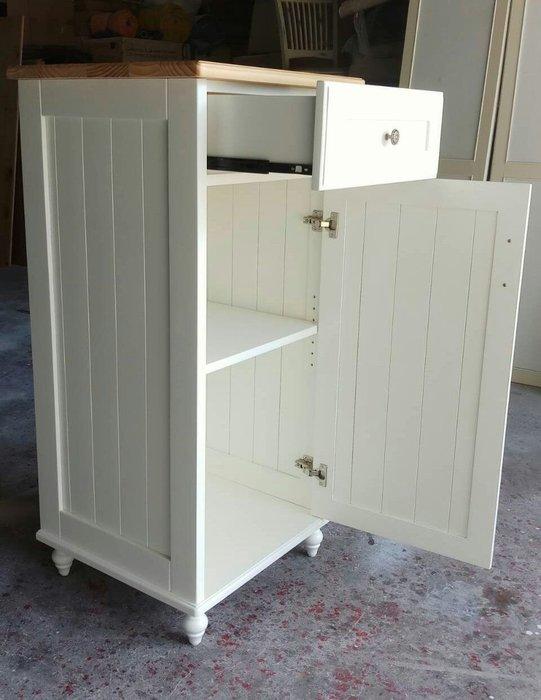 美生活館-- 鄉村家具訂製客製化--紐松全原木單抽單門雙色收納櫃 碗盤櫃 角落櫃 置物櫃 也可修改尺寸顏色再報價