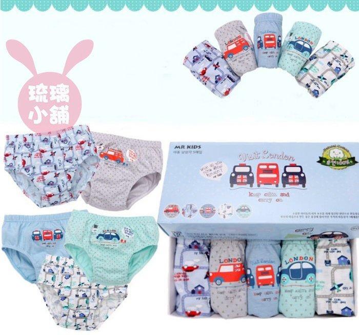 《琉璃的雜貨小舖》2017韓國 嘟嘟小汽車 男童內褲五件組