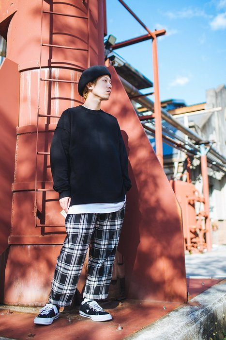 [NMR] NEXTMOBRIOT 長袖 大學T 素面 不修邊 17 F/W Slovenly OV-Sweater