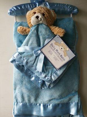 【美國品牌】100%全新正品 嬰幼兒 輕柔舒眠 極柔絨毯/ 毛毯/ 抱毯/ 萬用毯 冷氣房可用 彌月禮 二件組BAB12