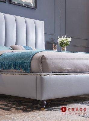 [ 紅蘋果傢俱 ] SL-125 歐式美式系列 雙人床 床組 床架  數千坪展示