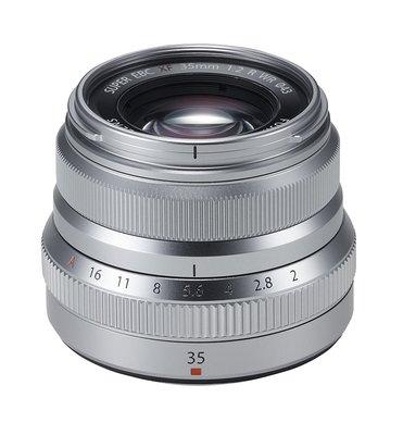 【高雄四海】Fujifilm 富士 FUJINON XF 35mm F2 R 全新平輸.一年保固.銀/黑雙色可選.