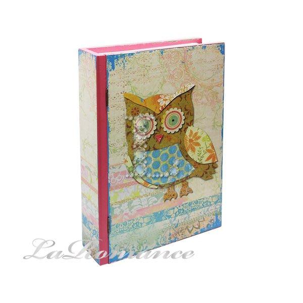【芮洛蔓 La Romance】貓頭鷹系列書盒 - 紅