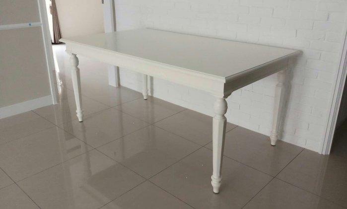 美生活館  全新 美式鄉村風格 浪漫白色家具--全新 蜜亞 象牙白 寬 168  餐桌 工作桌 寫字桌 會議桌