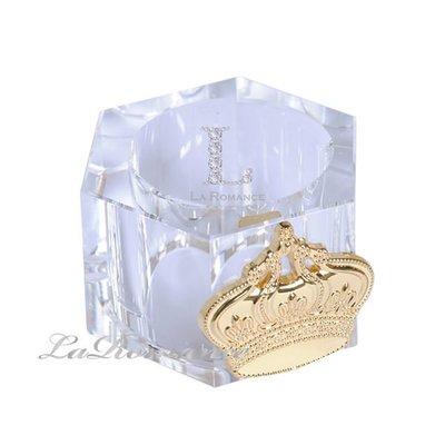 【芮洛蔓 La Romance】奢華鍍金皇冠水晶餐巾環 / 餐具 / 晚宴
