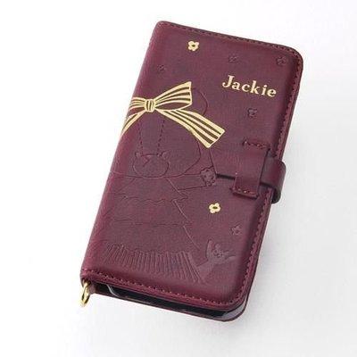 尼德斯Nydus~* 日本限定 小熊學校 Jackie 傑琪 翻頁皮套 皮革質感 手機殼 iPhone5 5S 蛋糕裙