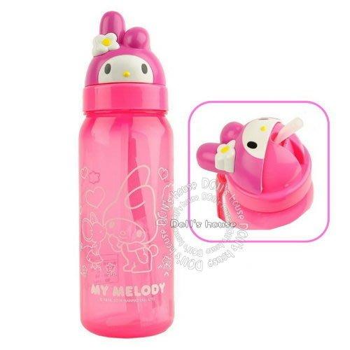 布偶的窩~三麗鷗 可愛立體造型吸管水壺  美樂蒂 水壺 正版授權