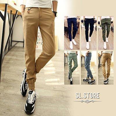 SL Store【CJP035】時尚百搭多色休閒窄版縮口褲‧6色/M/L/XL/2XL/3XL
