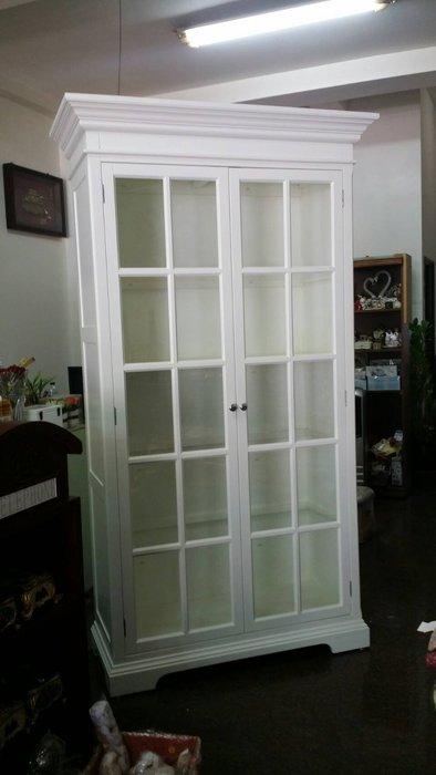 美生活館--浪漫白色家具--全新蜜亞 雙門書櫃/雙門玻璃展示櫃