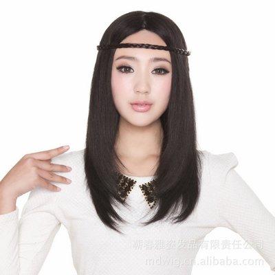 水媚兒假髮7M80HB-55HH♥新款女士真髮 透氣全手鉤 100%真髮 時尚長髮♥ 預購訂製 團購批發