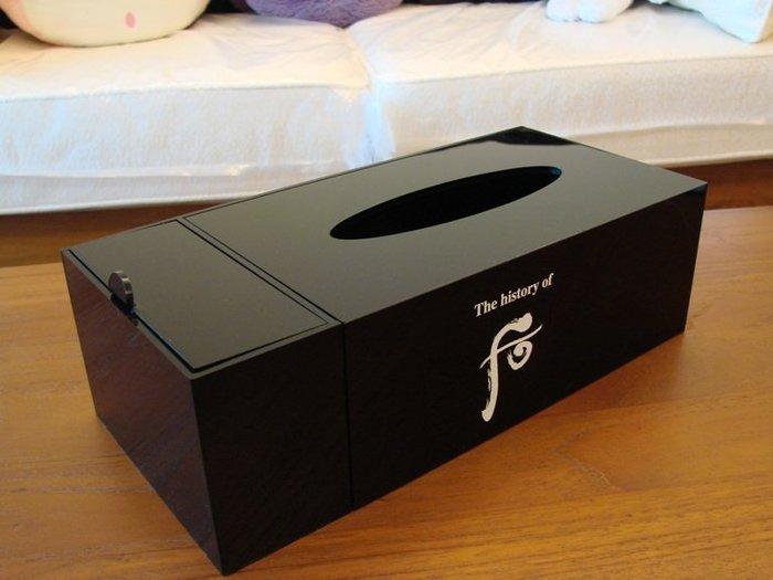 【∮魔法時光∮】Whoo 后 類似鋼琴面 經典多功能美妝盒/面紙盒/置物收納盒 壓克力超質感(價值1280)
