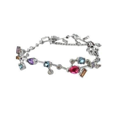 【JHT金宏總珠寶/GIA鑽石專賣】天然彩寶鑽石手鍊/材質:18K(JB41-A33)