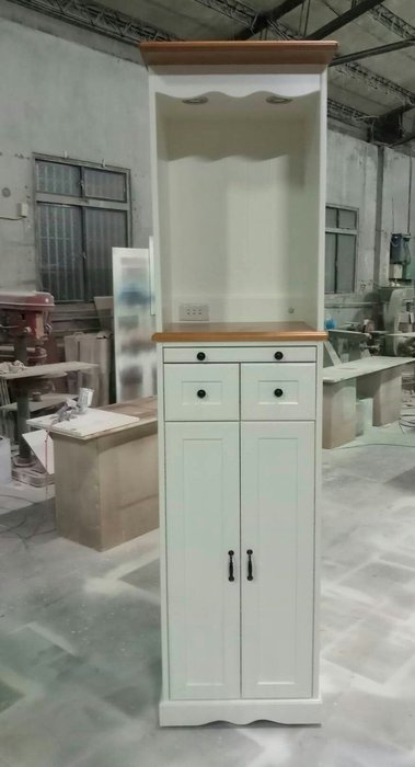 美生活館 鄉村傢俱訂製 全原木 雙色 神桌 收納櫃 佛桌 台灣生產 也可修改尺寸顏色再報價