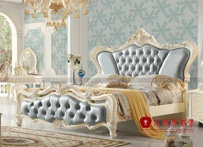 [紅蘋果傢俱] 8825 歐式系列 新古典床 歐式床 雙人床 6尺  標準 床組 床架 數千坪實體賣場