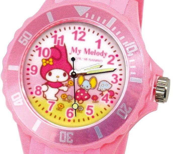 41+ 現貨免運費 三麗鷗 SANRIO 正版授權 美樂蒂 粉色 日本機芯 童趣卡通錶 兒童錶 運動錶 小日尼三