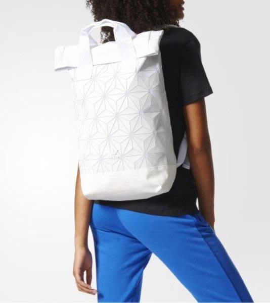 【Dr.Shoes 】Adidas Originals Urban Backpack 白 菱格紋 後背包 BJ9562