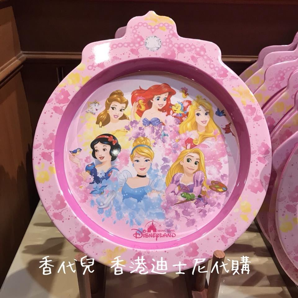 香港 迪士尼代購 Disney 迪士尼公主 白雪公主 睡美人 貝兒 愛麗兒 灰姑娘 樂佩 餐盤 (香代兒)