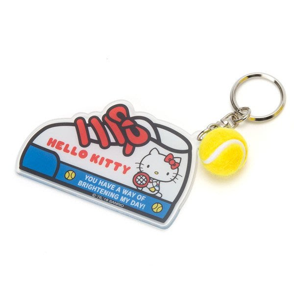 4165本通 鑰匙圈 凱蒂貓 -網球 4901610382981
