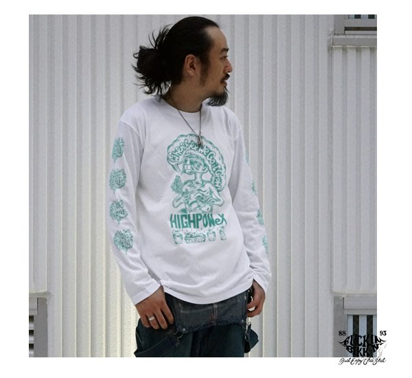 GOODFORIT/ 日本 FUCKIN BIKKIN HIGHPONeX 手繪大麻ET長袖上衣/兩色