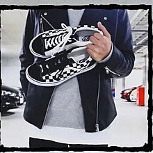 正版 vans old skool 新版 格仔
