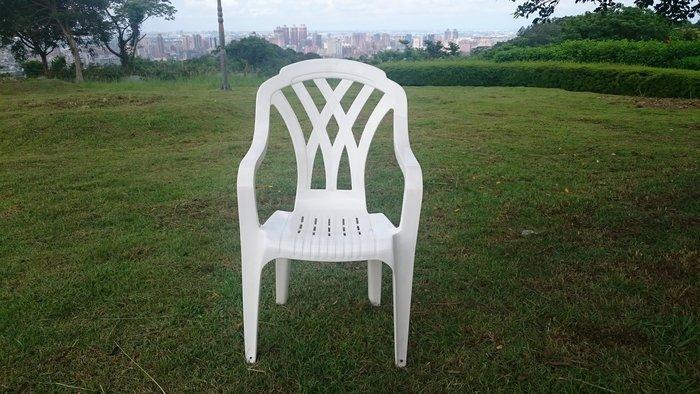 兄弟牌白色高背塑膠椅2入/1件~餐椅,收納椅,白色塑膠椅(高背設計腳底加止滑墊),物美價廉-BROTHER健康休閒生活館