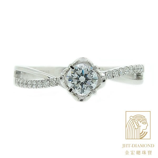 【JHT 金宏總珠寶/GIA專賣】婚戒/鑽戒 女鑽石戒台 (不含搭配主鑽)JRB029