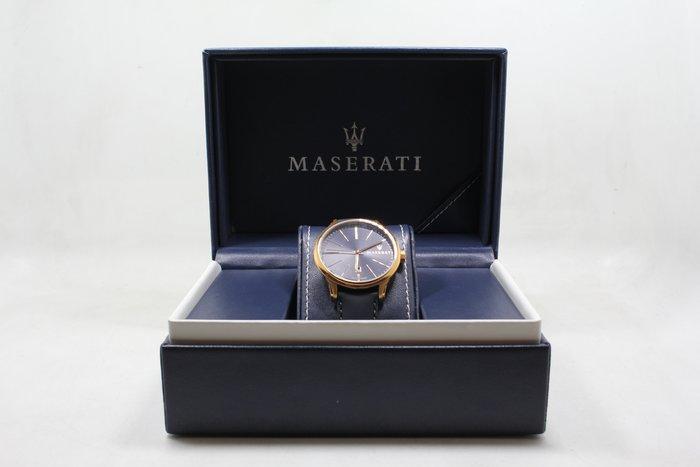 【高雄青蘋果3C】MASERATI Attrazione款 寶藍色錶面寶藍色皮革錶帶款 #15395