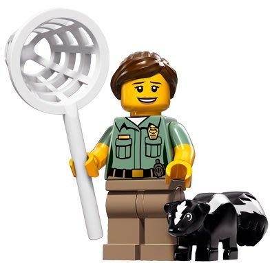 現貨【LEGO 樂高】積木/ Minifigures人偶系列: 15 代人偶包抽抽樂 71011 | 動物保育員+臭鼬