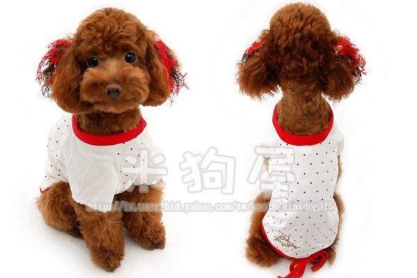 【米狗屋】peppets公主袖點點純棉T恤-白色˙剩3號