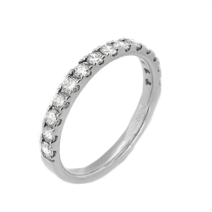 【JHT金宏總珠寶/GIA鑽石專賣】0.66ct天然鑽石線戒/材質:18K(JB43-A16)