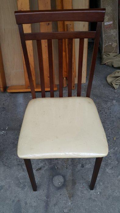 樂居二手家具 全新中古家具賣場 F0303GJE 胡桃色皮面餐椅*書桌椅 電腦椅 洽談椅 辦公椅 二手家具買賣/餐桌/洽